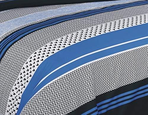 Buymax Bettwäsche Set 2 oder 3 teilig, Renforce-Baumwolle, Reißverschluss, Design-Muster