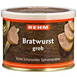 Rehm Schurwalder Bratwurst grob, 6er Pack (6 x 200 g)