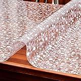 HM&DX PVC Tabelle beschützer Wasserdicht Abwaschbar Hitzebeständig Punktemuster 1.5mm dicken Multi-size Kunststoff Tischdecken Abdeckung tischmatte Für wohnküche-Punkte 90x160cm(35x63inch)