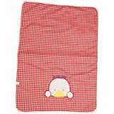 Guru Kripa Baby Products™ Presents New Born Baby Bed Protector Waterproof Multipurpose Changing Mat Plastic Sheets Baby Changer Sheet Cotton Foam Cushioned Sleeping Mat & Changing Mat Unisex, 0-9 Months, Pack Of 1 (Red, 60cmX43cm)