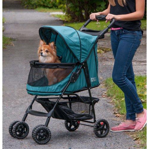 Rosewood 02669 Pet Gear Hundebuggy ohne Reißverschlüsse, smaragdgrün - 3