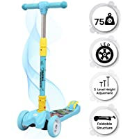 R for Rabbit Road Runner Scooter for Kids of 3 to 14 Years Age 3 Adjustable Height, Foldable, LED PU Wheels & Weight…