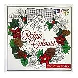 Natale da Colorare Adulto Super Libro - 60 disegni a colori - Dimensioni 210mm x 210mm