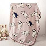 takestop/® Cuscino Cuccia Ovale Tappeto Tappetino Imbottito 43x27x1 CM Coperta per Cane Gatto Animali Domestico Divano Trama Casuale