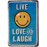 DiiliHiiri Cartel de Chapa Vintage Decoración, Letrero A4 Estilo Antiguo de metálico Retro-Live