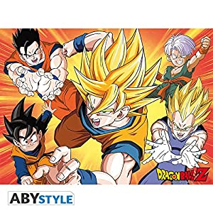 ABYstyle Abysse Corp_ABYDCO213 Dragon Ball - Póster DBZ/Saiyans (52X38)