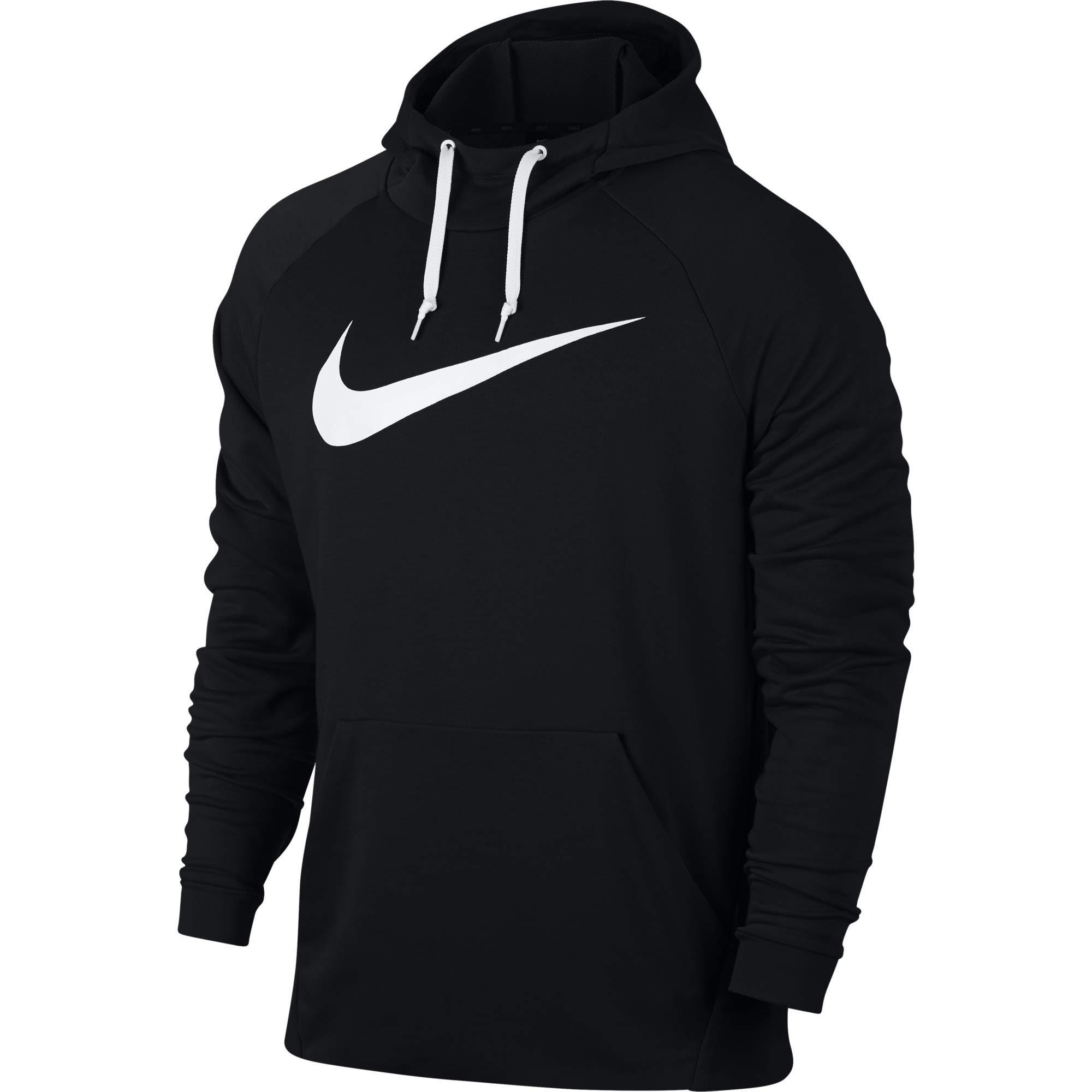 Nike 885818 010, Felpa Uomo, BlackWhite, M