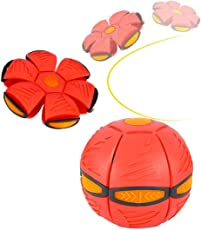 Bonzeal Outdoor Unique Sports Toy Red Phlat Ball Frisbee Fun Toy Play Games Garden Ground Park For Kids Children