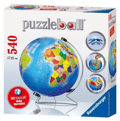 Ravensburger 11193 puzzleball® La Terra in Lingua Inglese - Puzzle da 540 Pezzi