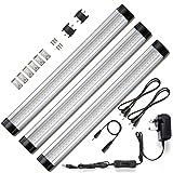 Unter Schrank Beleuchtung, 3Panel Deluxe-Kit, insgesamt 12Watt, 12V DC, 900lm, entspricht 24W Leuchtstoffröhren, Zubehör enthalten, LED-Licht Bar, Lichter warmweiß
