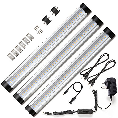 Hardwired-kit (Ustellar-LED-Unterschrankbeleuchtung, 3 Paneel-Kit, 30-cm-Unterschrankbeleuchtung, warmweiß, Set of 3 Warm White 12.00watts)