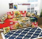 #10: Aerohaven 3D TC Printed 8Pc Diwan Set(1 Single Bedsheet, 2 Bolster Covers, 5 Cushion Covers)
