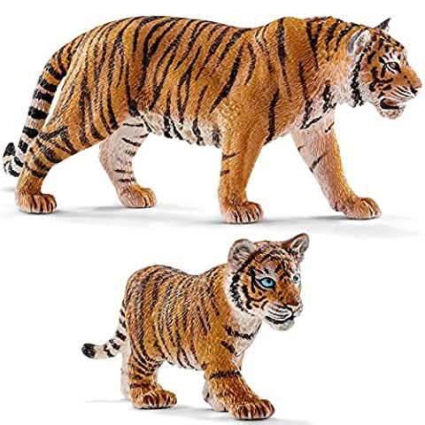 Schleich Tiger 14729 and Tiger Cub 14730 2 Figures Set
