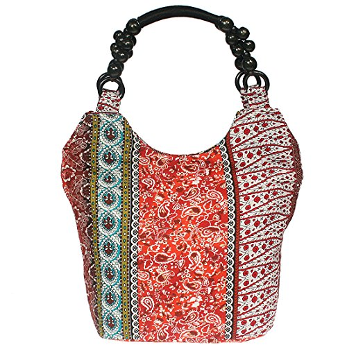kilofly-bohemian-beaded-top-handle-cloth-handbag-shoulder-bag-orange-floral