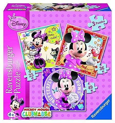 Boite 3 puzzles Disney Minnie