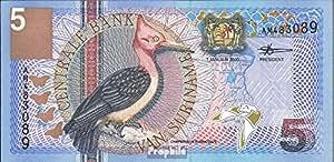suriname Pick-no: 146 bankfrisch 2000 5 florins Oiseaux (billets de banque pour les collectionneurs)