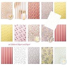 edle pastellfarbene motivpapier bastelpapier dekorpapier scrapbooking block din a4 floral tw glnzend in - Bastelpapier Muster