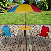 Marko Outdoor Kids Bistro Set Outdoor Garden Furniture Tea Party Multi Coloured Childrens Play