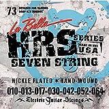 La Bella 010.013.017.030w.042.052.064 Jeu de cordes pour Guitare électrique 7 cordes