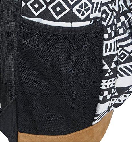 Yiuswoy Retro Nationalen Wind Muster Leinwand Taschen Reisetaschen Schultaschen Rucksack Fuer Schule – Farbe E - 5