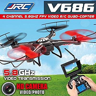 Jjrc Drone V686 5.8g FPV Headless Mode Rc Quadcopter with Hd Camera 2mp Monitor by JJRC