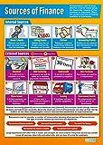 Fuentes de financiación Póster |educational Business gráfico para estudiantes y profesores, alta calidad brillante papel de 850mm x 594mm (A1) fácil aprendizaje con colorido imágenes para la clase o en casa, por Daydream Educación, color Gloss Paper