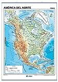 América del Norte, físico / político: Mapas Murales ()
