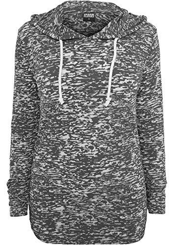 Urban Classics Ladies Melange Burnout Sweats à cap darkgrey