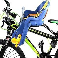Silla Delantera Bebé Niños para Bicicleta, Asiento Delantero con Agarradero. (Azul/Amarillo)