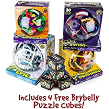 Ultimate Perplexus Package: Includes Original, Rookie, Epic and Twist Maze Games with 4 Free Brybelly Puzzle Cubes by Brybelly