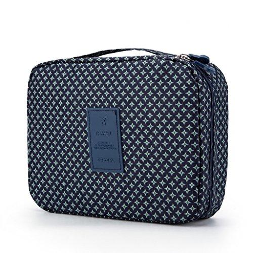 Rusty Bob - Kosmetiktasche für Reisen | Große Kulturtasche | Kulturbeutel | Waschbeutel | Kulturtasche Bad-Tasche | Damen und Herren - Sterne