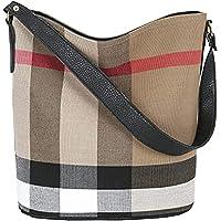 Wewo Modisch Canvas Damen schultertasche kariert Handtasche mädchen umhängetasche vintage henkeltaschen lässig…