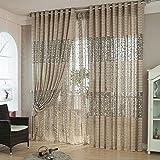 Ouneed Fashion Tree leaf Tulle Door Window Curtain Drape Panel Sheer Scarf Valances