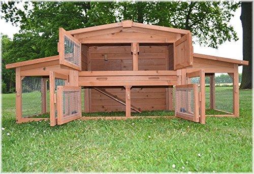 Zooprimus Kaninchenstall 47 Hasenkäfig – KÖNIGSSTALL – Stall für Außenbereich (für Kleintiere: Hasen, Kaninchen, Meerschweinchen usw.) - 3