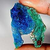 40.65CTS100% naturale blu Azzurrite Facet slice Rough Specimen gemma sciolto