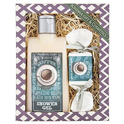 Coffee Gift Pack - Shower Gel, Handmade Soap, Original Pure Natural from Bohemia Cosmetics