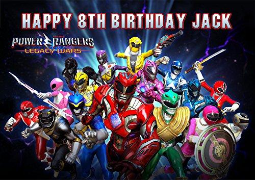 Power Rangers personnalisé personnalisé gâteau Sucre papier A4d'image 7