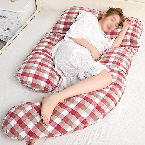 SPQRSXC Femmes enceintes oreiller d'allaitement allaitement et oreiller d'allaitement, coussin de couchage pour soulèvement d'estomac, oreiller de couchage côté taille (Couleur : B)