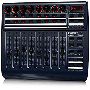 Behringer BCF2000 Total Recall USB/MIDI Controller Desk with 8 Motorized Faders - Black