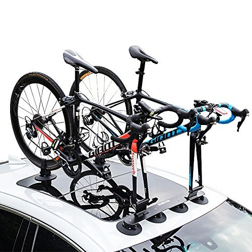 ROCKBROS Portabicicletas Baca bicicleta con ventosa de almacenamiento para Auto (adaptador 15mm - par)