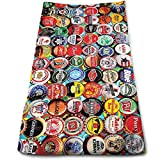 WBinHua Strandtücher, Beer Bottle Caps Multi-Purpose Microfiber Frottiertücher Ultra Compact Super Absorbent and Fast