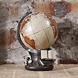 VanMe Kreative Deko-Kleiner Vintage Globus Handwerk Ornamente Ornamente Heimische Wohnzimmer Studie Raumdekoration,Groß
