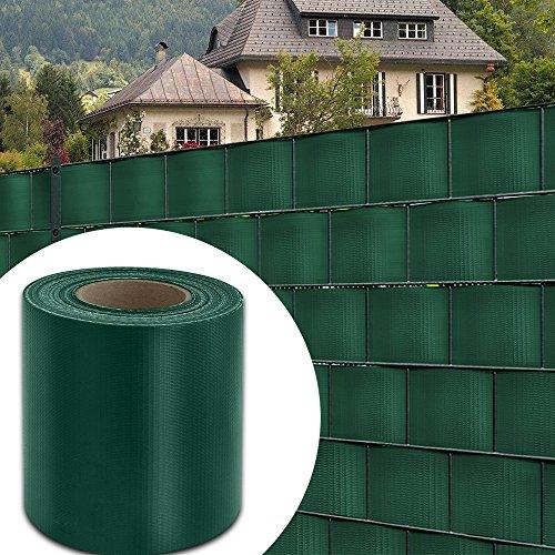 HG® 35mx19cm Sichtschutz Streifen Doppelstabmattenzaun PVC Blickdicht für Einzel- und Doppelstabmatten geeignet