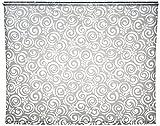 ECO- DUR 4024879003685,Ersatzvorhang Kassetten Duschrollo Seitenzug 134cm - Flower grau
