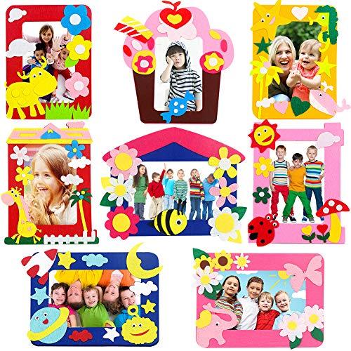 Bastelset Kinder WENTS 8PCS Bilderrahmen Set Bilderrahmen zum Selbstgestalten Kindergeburtstag Gastgeschenke für Mädchen