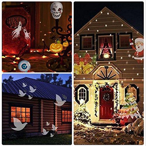 KRISMILEN Telecomando impermeabile 15 modelli di proiezione lampada LED decorazione di Natale