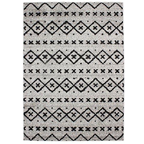 Monbeautapis Florencia Sueden étnica escandinava alfombra material sintético gris 190X 133cm