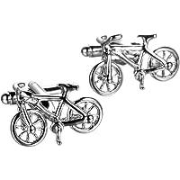 UM Gioielli Gemelli da Uomo Bicicletta Gemelli da Polso Camicia Fidanzamento Colore Argento