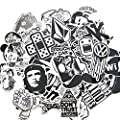 120PCS Black White Vinyl Sticker Graffiti Decal Perfect to Laptops, Skateboards, Luggage, Cars, Bumpers, Bikes, Motorcycle, Helmet, Window, Guitar, Snowboard, Cellphone : everything 5 pounds (or less!)
