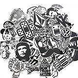 120PCS Black White Vinyl Sticker Graffiti Decal Perfect to Laptops, Skateboards, Luggage, Cars, Bumpers, Bikes, Motorcycle, Helmet, Window, Guitar, Snowboard, Cellphone